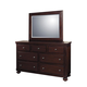 Samuel Lawrence Furniture Addison Dresser with Mirror in Amber 8546-010-030