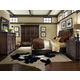 A.R.T. Whiskey Oak 4pc Sleigh Bedroom Set in Barrel Oak