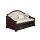 Samuel Lawrence Furniture Girls Glam Twin Daybed with Trundle Storage in Dark Cherry 8688-801R
