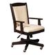 Samuel Lawrence Furniture Homework Executive Desk Chair in Dark Cherry 8616-925