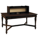 Samuel Lawrence Furniture Homework Workstation Table with Hutch in Dark Cherry 8616-940-945