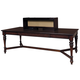 Samuel Lawrence Furniture Homework Workstation Table with Hutch in Dark Cherry 8616-942-945