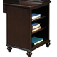 Samuel Lawrence Furniture Homework Shelf Unit Desk Base in Dark Cherry 8616-964