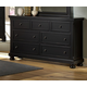 All-American Reflections Triple Dresser in Ebony