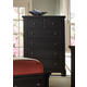 All-American Reflections Drawer Chest in Ebony