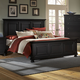 All-American Reflections Queen Panel Mansion Bed in Ebony