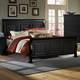 All-American Reflections Queen Sleigh Bed in Ebony