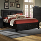 All-American Reflections Queen Sleigh Storage Bed in Ebony