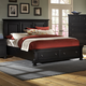 All-American Reflections Queen Mansion Storage Bed in Ebony