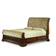 Legacy Classic Pemberleigh King Upholstered Sleigh Bed in Brandy Finish 3100-4306K