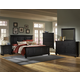 All-American Muse 4-Piece Mansion Panel Bedroom Set in Ebony