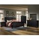All-American Muse 4-Piece Sleigh Bedroom Set in Ebony