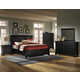 All-American Reflections 4-Piece Mansion Storage Bedroom Set in Ebony