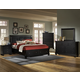 All-American Reflections 4-Piece Sleigh Storage Bedroom Set in Ebony