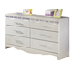 Zarollina Youth Dresser in Shiny Silver Pearl Faux Gator B182-21 CLEARANCE