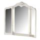 Zarollina Tri-Fold Vanity Mirror in Silver Pearl Faux Gator B182-37