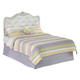 Zarollina Full Upholstered Bed in Shiny Silver Pearl Faux Gator