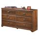 Barchan Vintage Dresser in Medium Brown B228-21