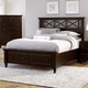 All-American Bebop King Garden with X-Detail Panel with 2 Footboard Drawers Bed in Merlot