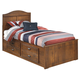 Barchan Twin Storage Bed in Medium Brown