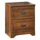 Barchan Two Drawer Nightstand in Medium Brown B228-92 CLEARANCE