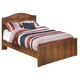 Barchan Full Panel Bed in Medium Brown