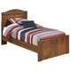 Barchan Twin Panel Bed in Medium Brown