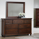 All-American Bebop Triple Dresser with Mirror in Cherry