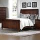 All-American Bebop King Sleigh Bed in Cherry