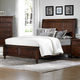 All-American Bebop Queen Sleigh Storage Bed with 2 Footboard Drawers in Cherry