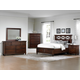 All-American Bebop 4-Piece Garden with X-Detail Panel with Footboard Drawer Bedroom Set in Cherry