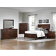 All-American Bebop 4-Piece Sleigh with Footboard Drawers Bedroom Set in Cherry