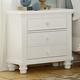 All-American Bebop Drawer Nightstand with Drawer Power Pack and Electronic Storage in White