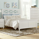 All-American Bebop California King Garden with X-Detail Panel Bed in White