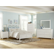 All-American Bebop 4-Piece Garden with X-Detail Panel with Footboard Drawer Bedroom Set in White