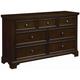 All-American Hanover Drawer Dresser in Dark Cherry
