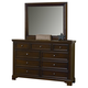 All-American Hanover Drawer Chesser with Mirror in Dark Cherry