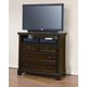 All-American Hanover Media Chest in Dark Cherry
