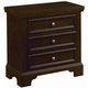 All-American Maple Grove Nightstand with Light in Dark Cherry