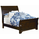 All-American Maple Grove Full Sleigh Bed in Dark Cherry