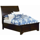 All-American Hanover Queen Sleigh Low Profile Bed in Dark Cherry