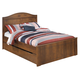 Barchan Full Panel Bed w/Underbed Trundle in Medium Brown