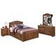 Barchan 4pc Storage Bedroom Set in Medium Brown