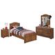Barchan 4pc Panel Bedroom Set in Medium Brown