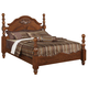 Acme Ponderosa Queen Poster Bed with Carved Rosette on Headboard in Walnut 01720Q