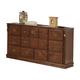 Acme Ponderosa Elegant Fourteen Drawer Dresser in Walnut 01725
