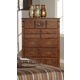Acme Ponderosa Elegant Five Drawer Chest in Walnut 01726