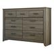 Zelen Vintage Dresser in Warm Gray B248-31