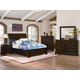 All-American Hanover 4-Piece Sleigh Storage Low Profile Bedroom Set in Dark Cherry