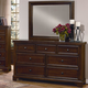 All-American Hanover Drawer Dresser with Mirror in Cherry